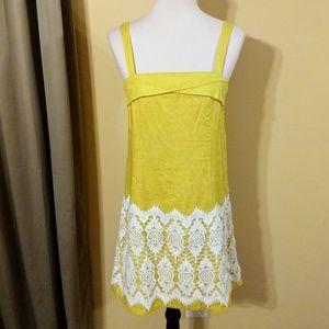 Floreat anthro cotton crochet sundress sz 4 EUC